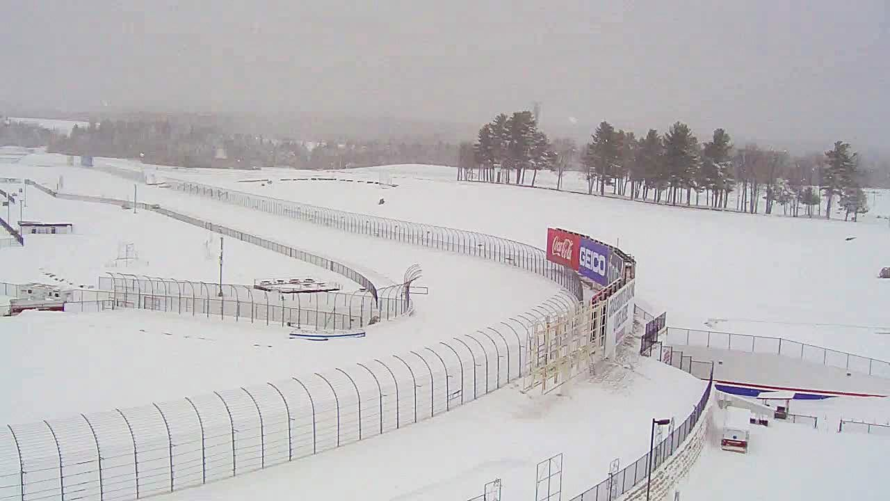 New Hampshire Motor Speedway - Snow storm photos
