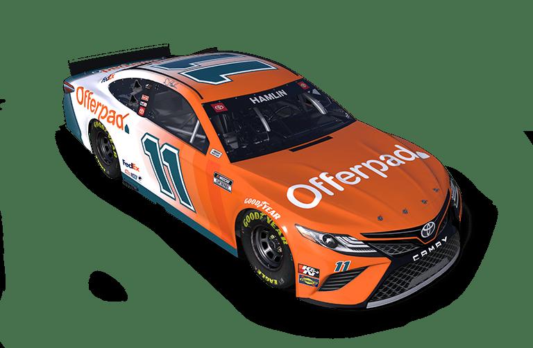 Orange Denny Hamlin paint scheme - Offerpad