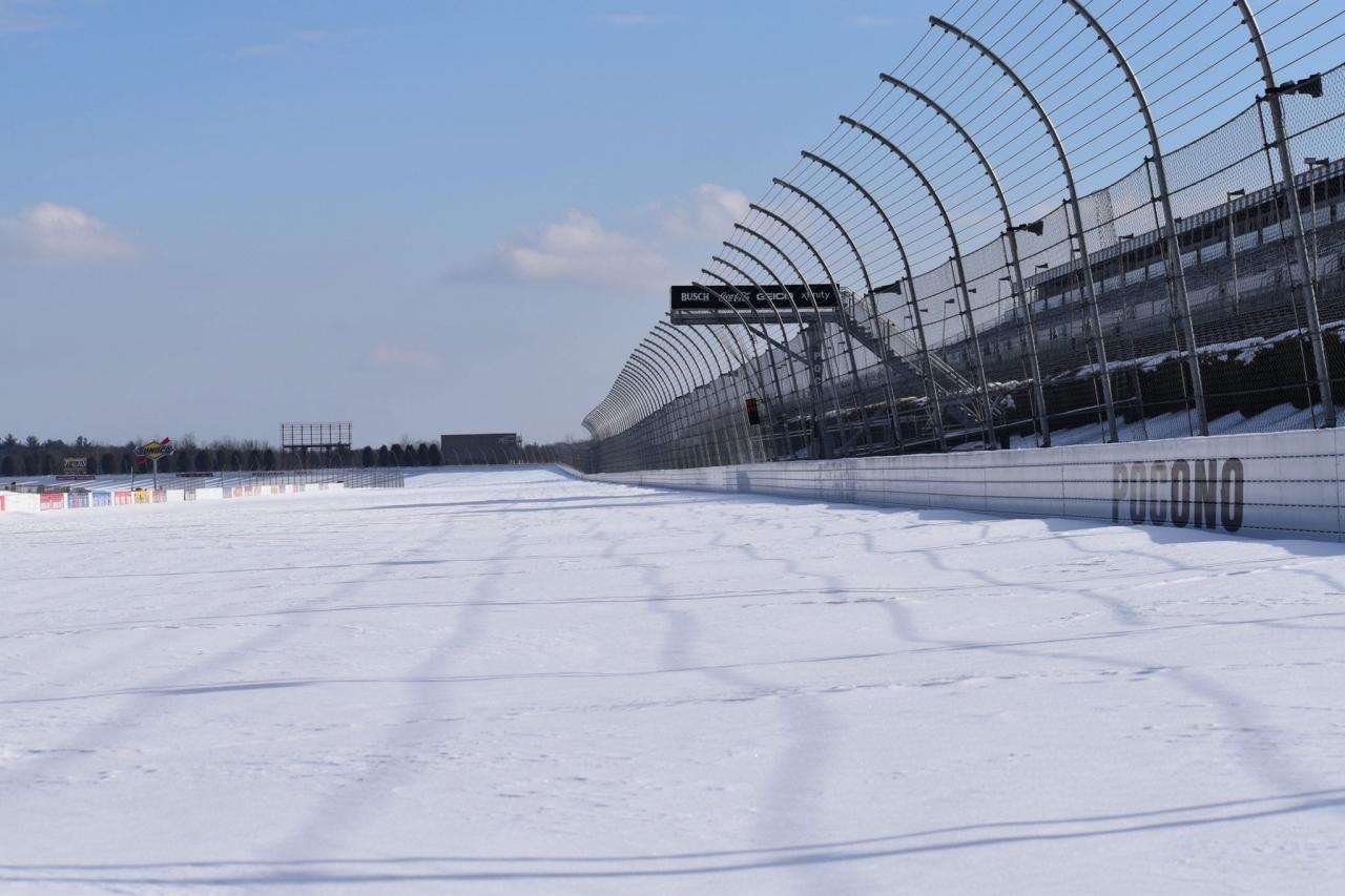 Pocono Raceway - Snow photo