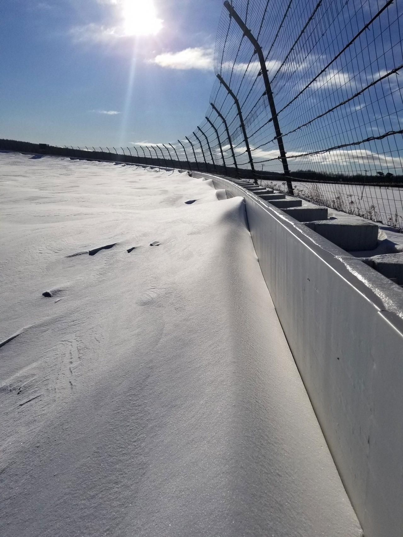Pocono Raceway - Snow pictures