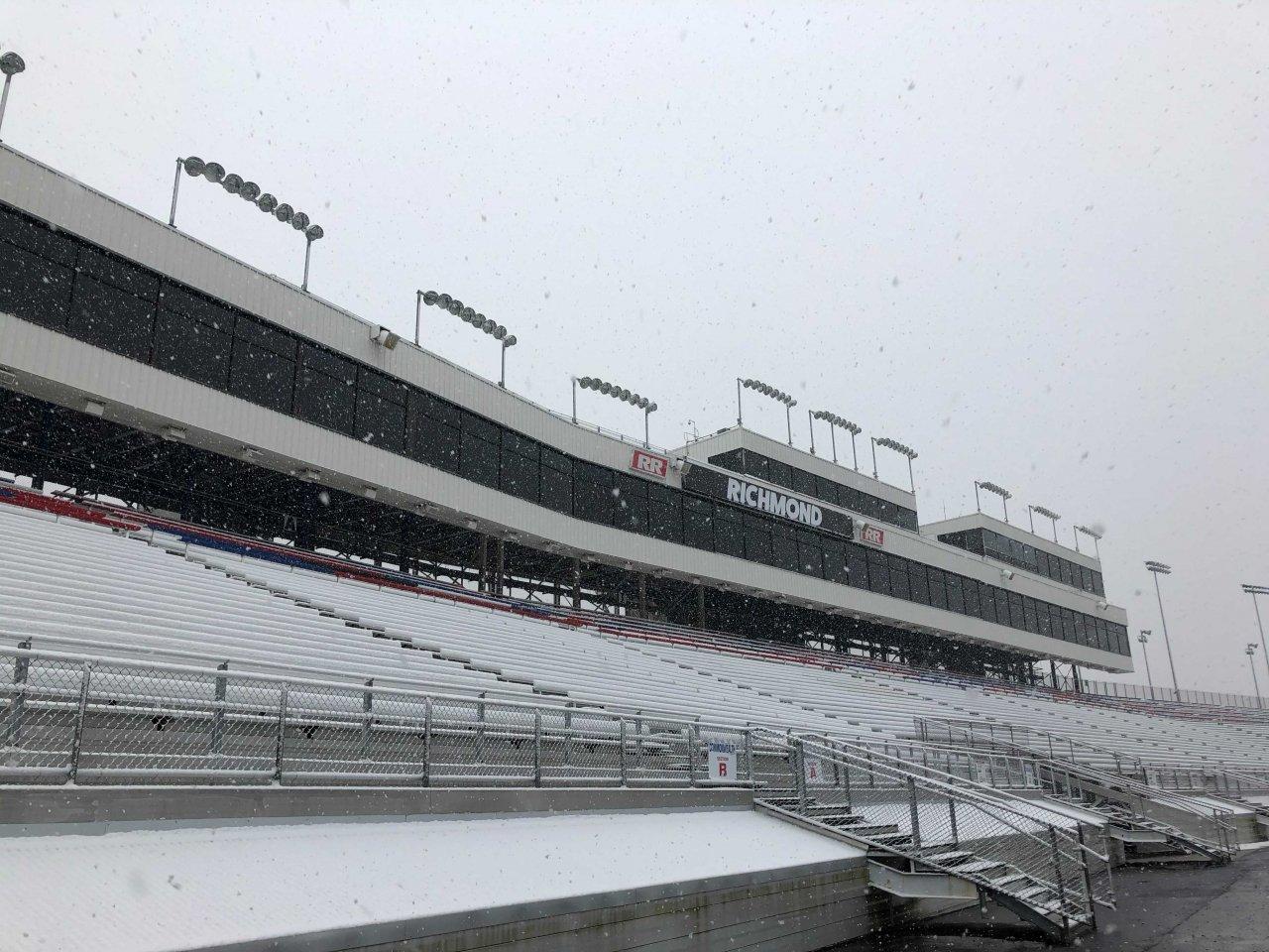 Richmond Raceway - Snow Photo