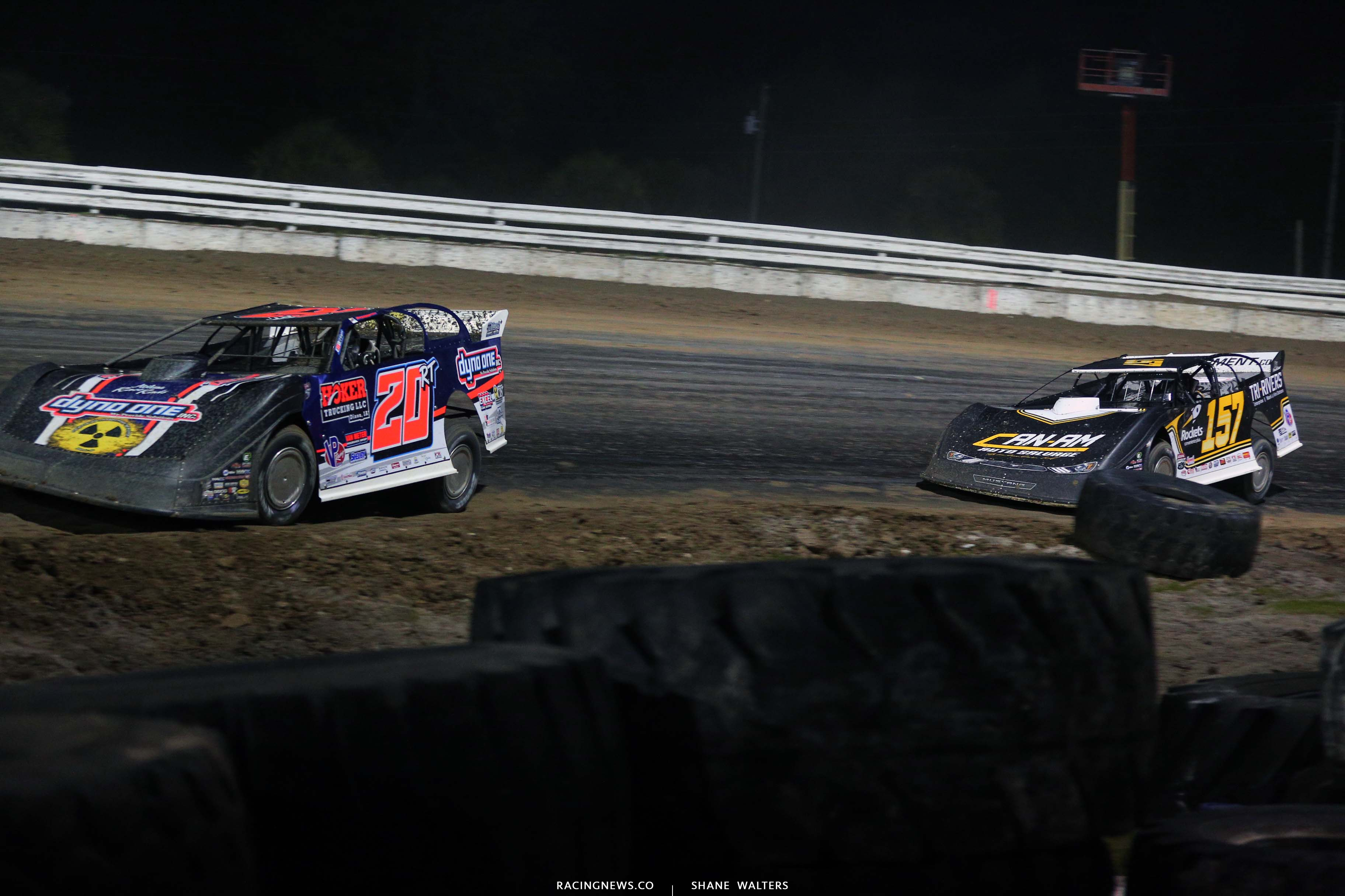 Ricky Thornton Jr and Mike Marlar at Bubba Raceway Park - Lucas Oil Dirt Series 9193