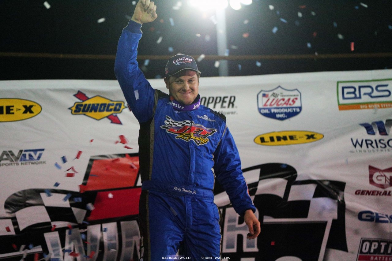 Ricky Thornton Jr in victory lane at Bubba Raceway Park - Lucas Late Models 9244