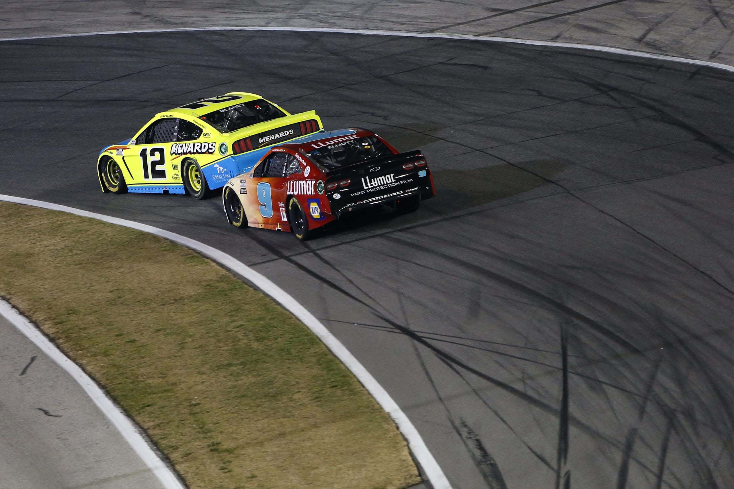 Ryan Blaney and Chase Elliott - Daytona Road Course - NASCAR Cup Series