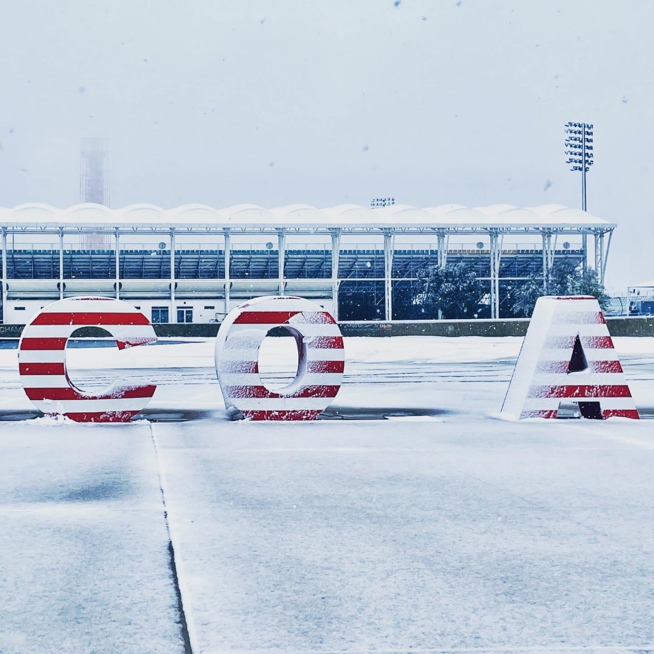Snow at Circuit of the Americas