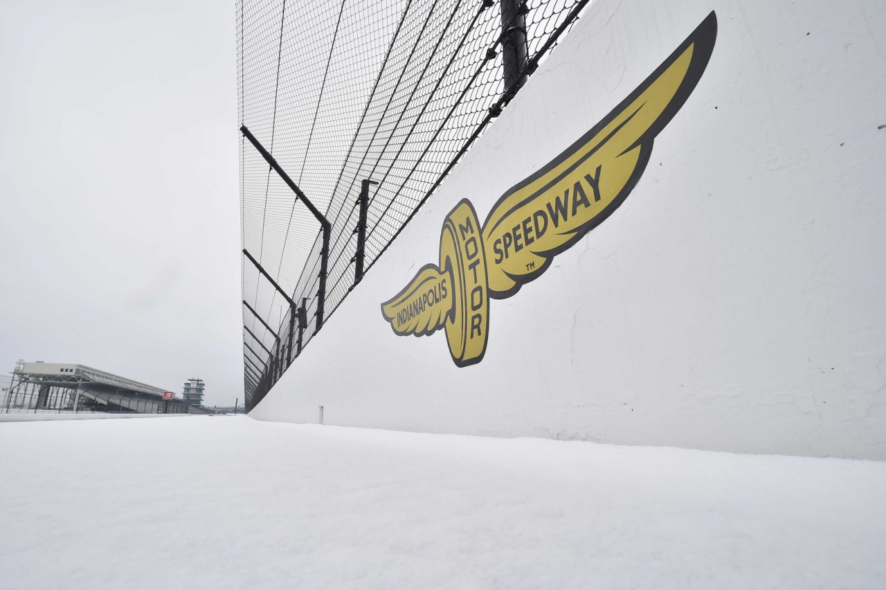 Snow at Indianapolis Motor Speedway