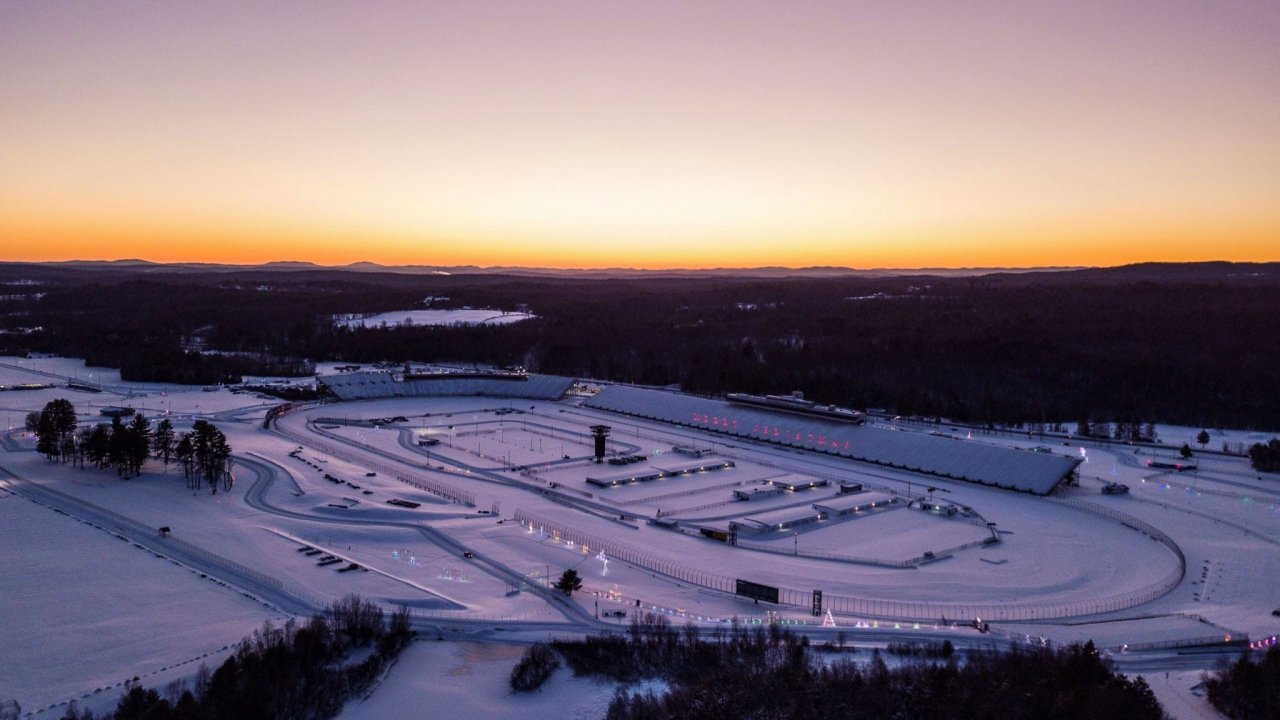 Snow at New Hampshire Motor Speedway