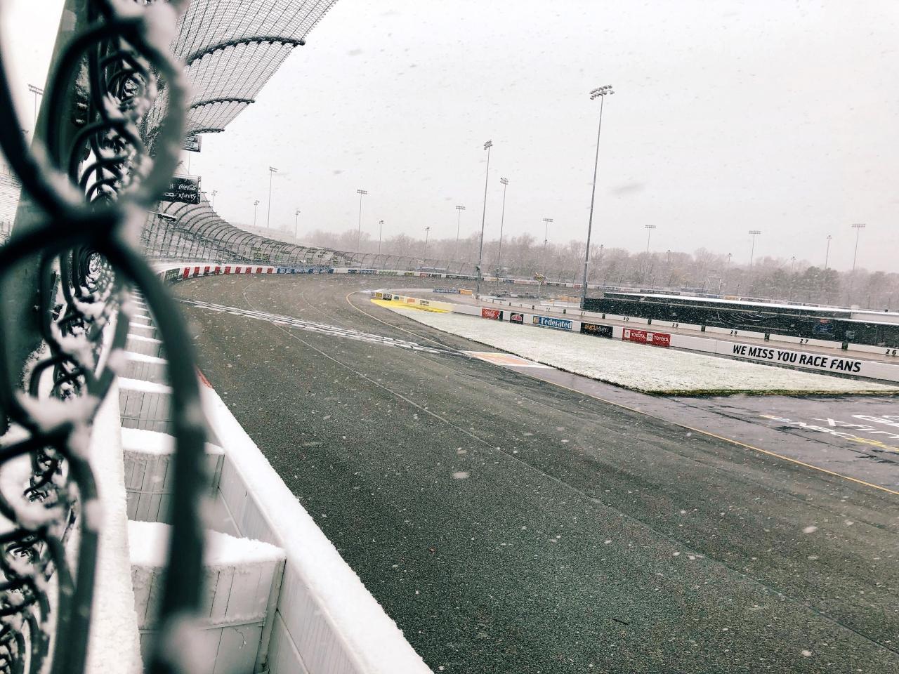 Snow at Richmond Raceway