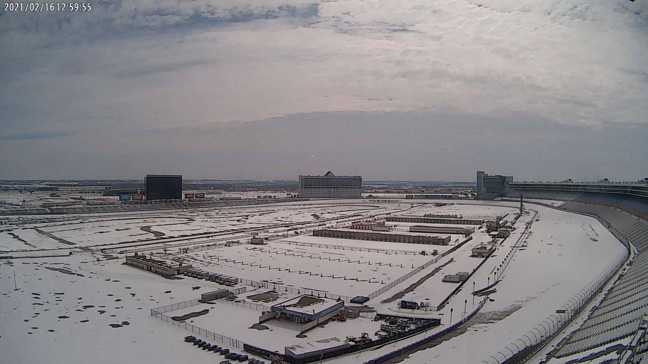 Snow at Texas Motor Speedway - Storm