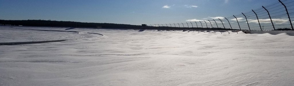Snow covers race tracks across the United States