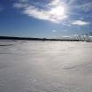 Snow covers Pocono Raceway