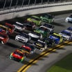 William Byron and Bubba Wallace in Duel at Daytona International Speedway - NASCAR Cup Series