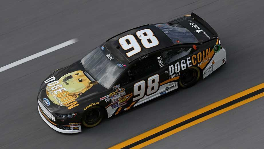2014 Dogecoin NASCAR race car - Josh Wise