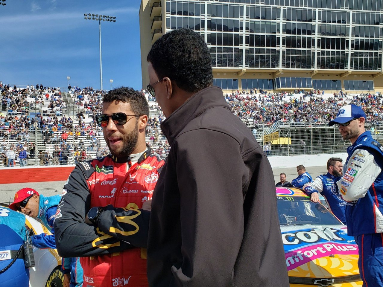 Bill Lester and Bubba Wallace - Atlanta Motor Speedway
