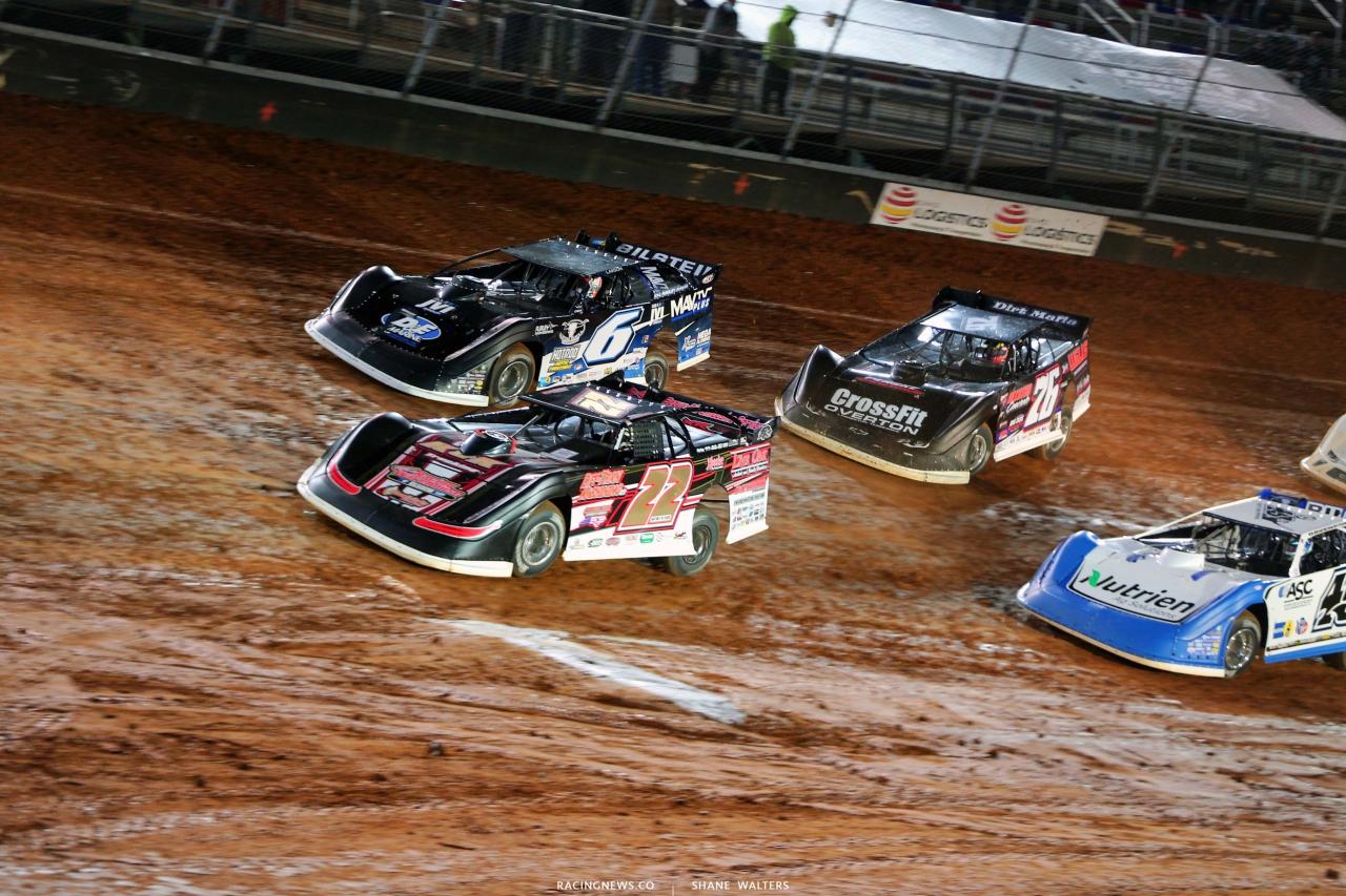 Chris Ferguson, Kyle Larson, Jonathan Davenport and Brandon Overton on The Dirt Track at Bristol Motor Speedway 2440