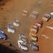 Denny Hamlin, Alex Bowman, Chase Elliott, Ricky Stenhouse Jr, Chris Buescher, Joey Logano, Ryan Newman - NASCAR Cup Series - Bristol Dirt Track