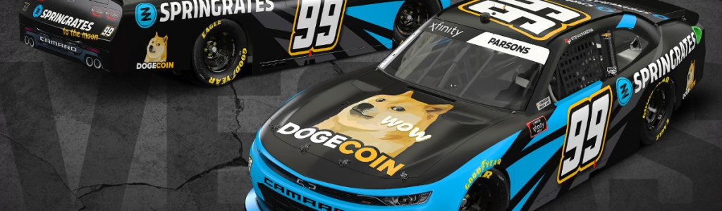 Dogecoin to the moon and NASCAR