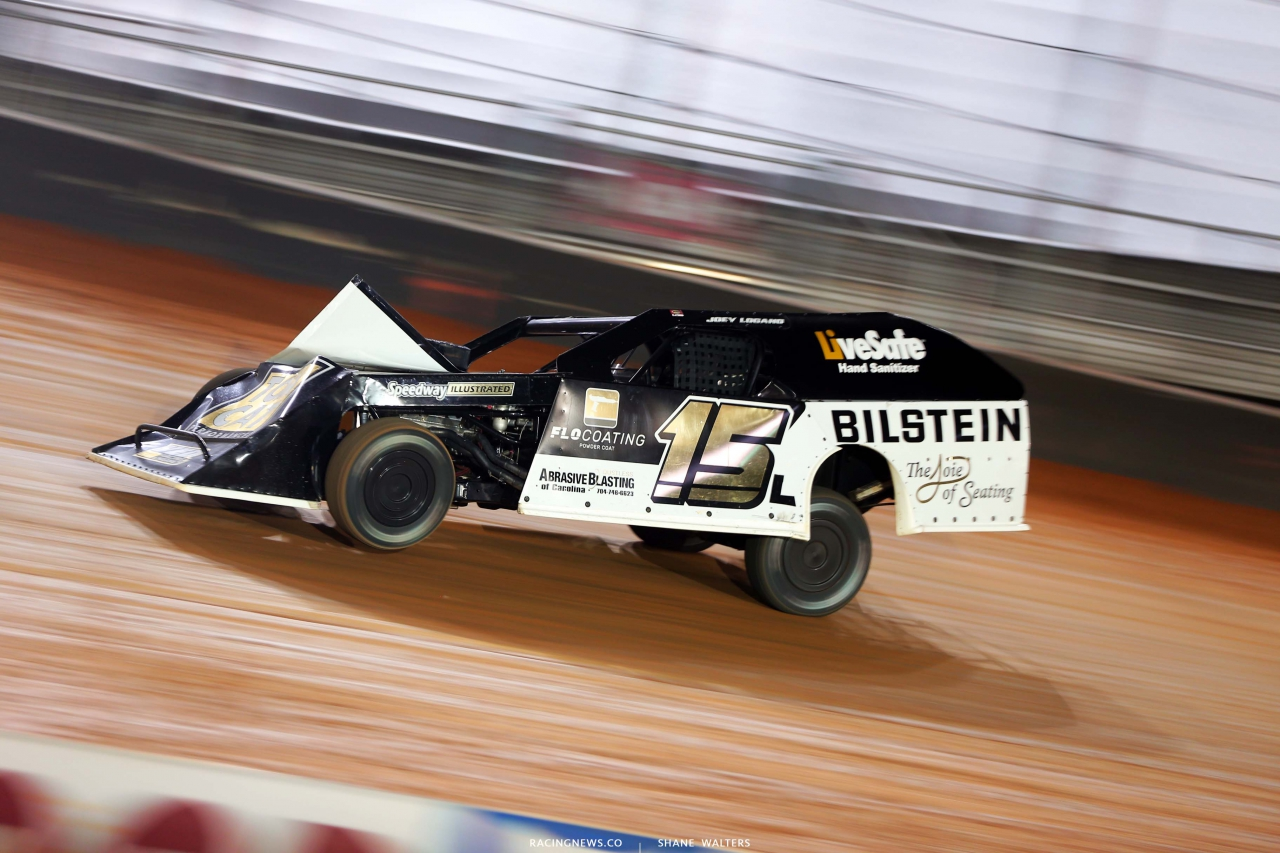 Joey Logano - Dirt Modified Racing - Bristol Dirt Track 0489