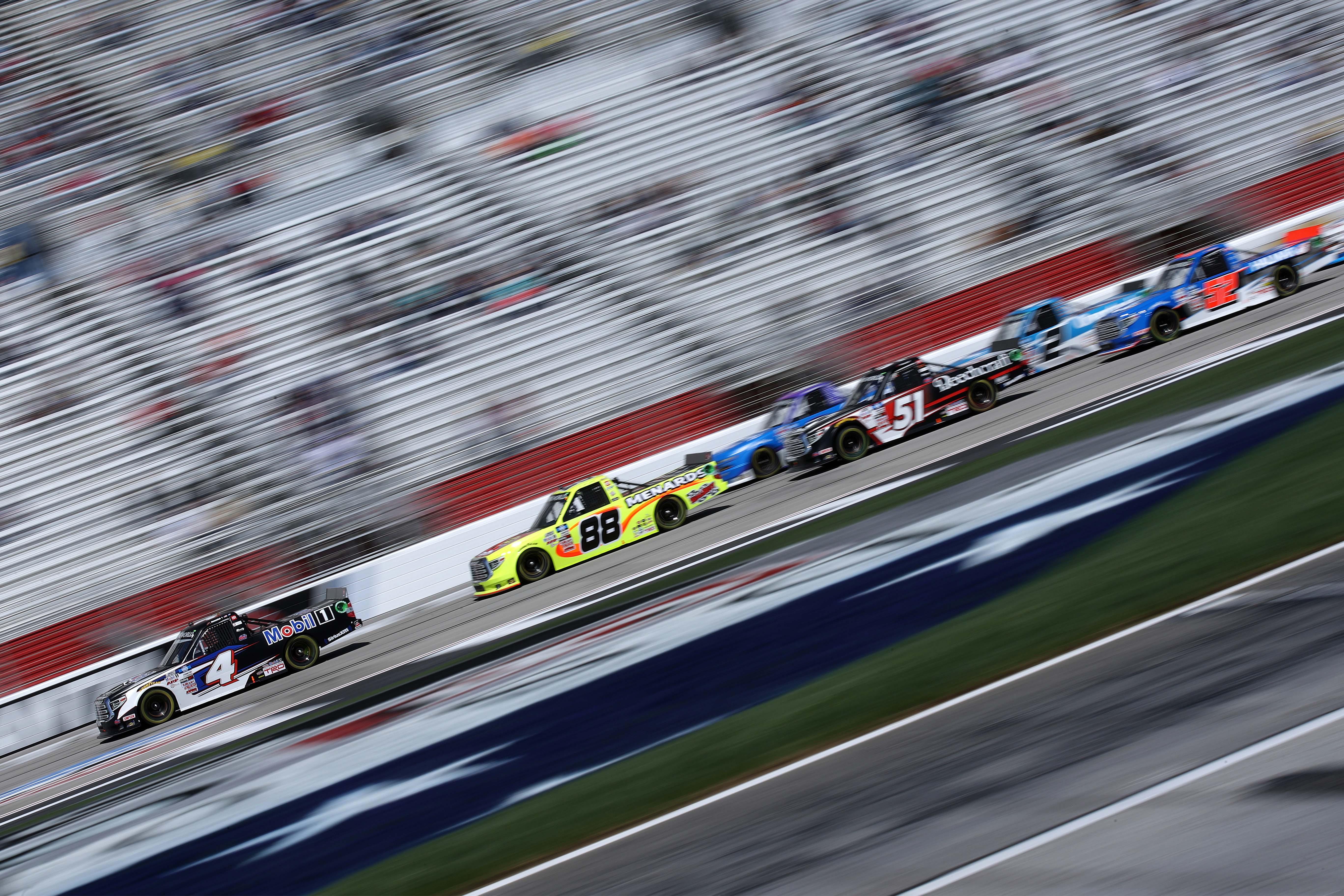 John Hunter Nemechek, Matt Crafton - Atlanta Motor Speedway - NASCAR Truck Series