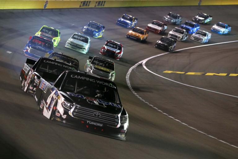John Hunter Nemechek at Las Vegas Motor Speedway - NASCAR Truck Series