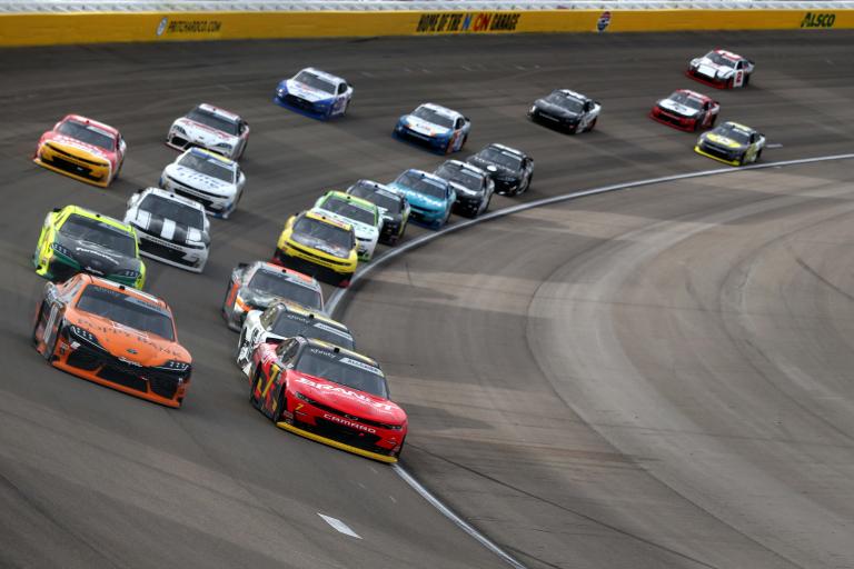 Justin Allgaier, Daniel Hemric at Las Vegas Motor Speedway - NASCAR Xfinity Series