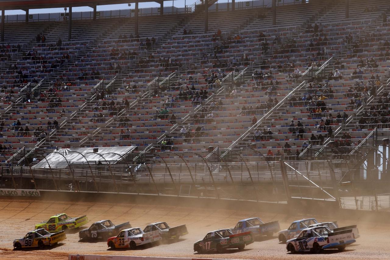 NASCAR Truck Series on dirt at Bristol Motor Speedway
