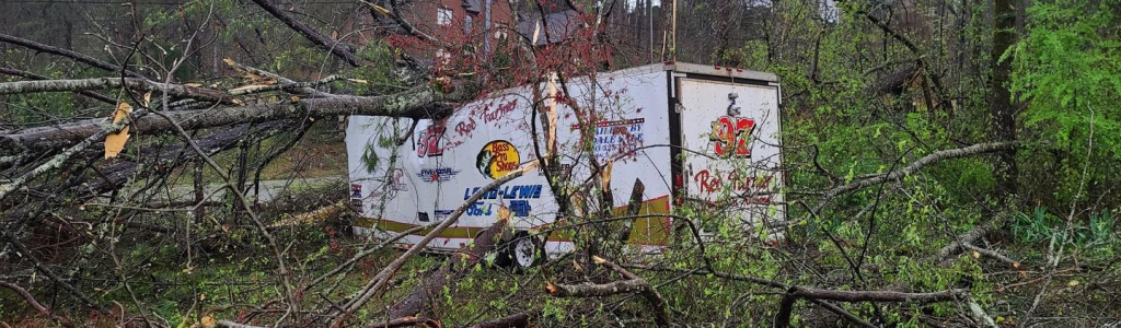 Red Farmer's house, hauler and race car damaged in Alabama tornado (Photos)