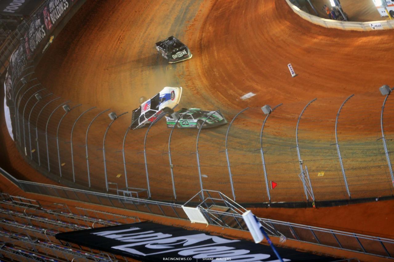 1 - Kyle Strickler crash - Bristol Motor Speedway Dirt Track 3745