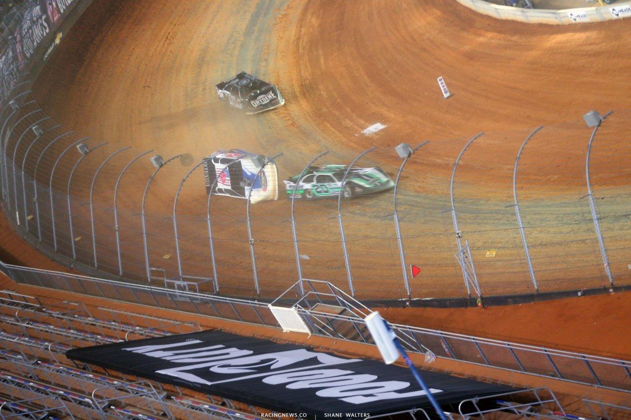 2 - Kyle Strickler crash - Bristol Motor Speedway Dirt Track 3746