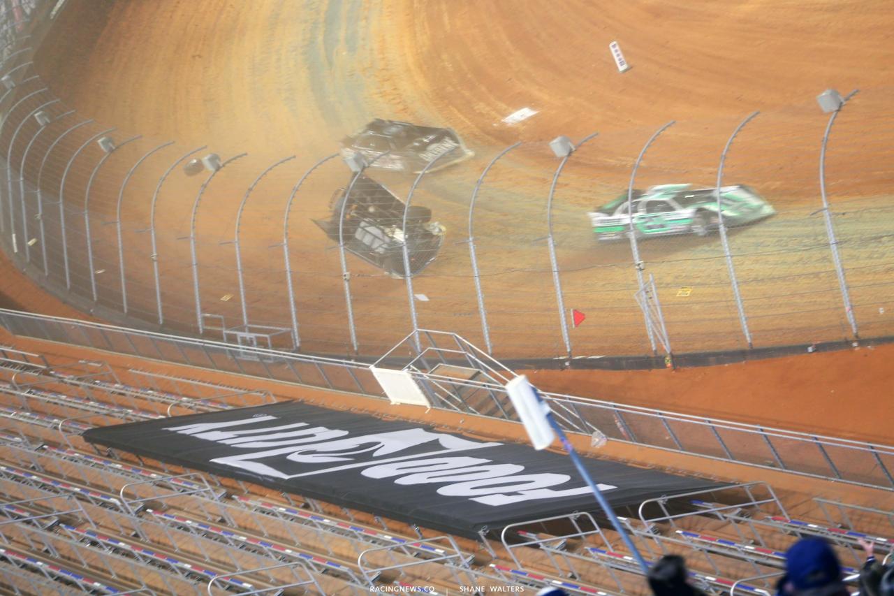 4 - Kyle Strickler crash - Bristol Motor Speedway Dirt Track 3748
