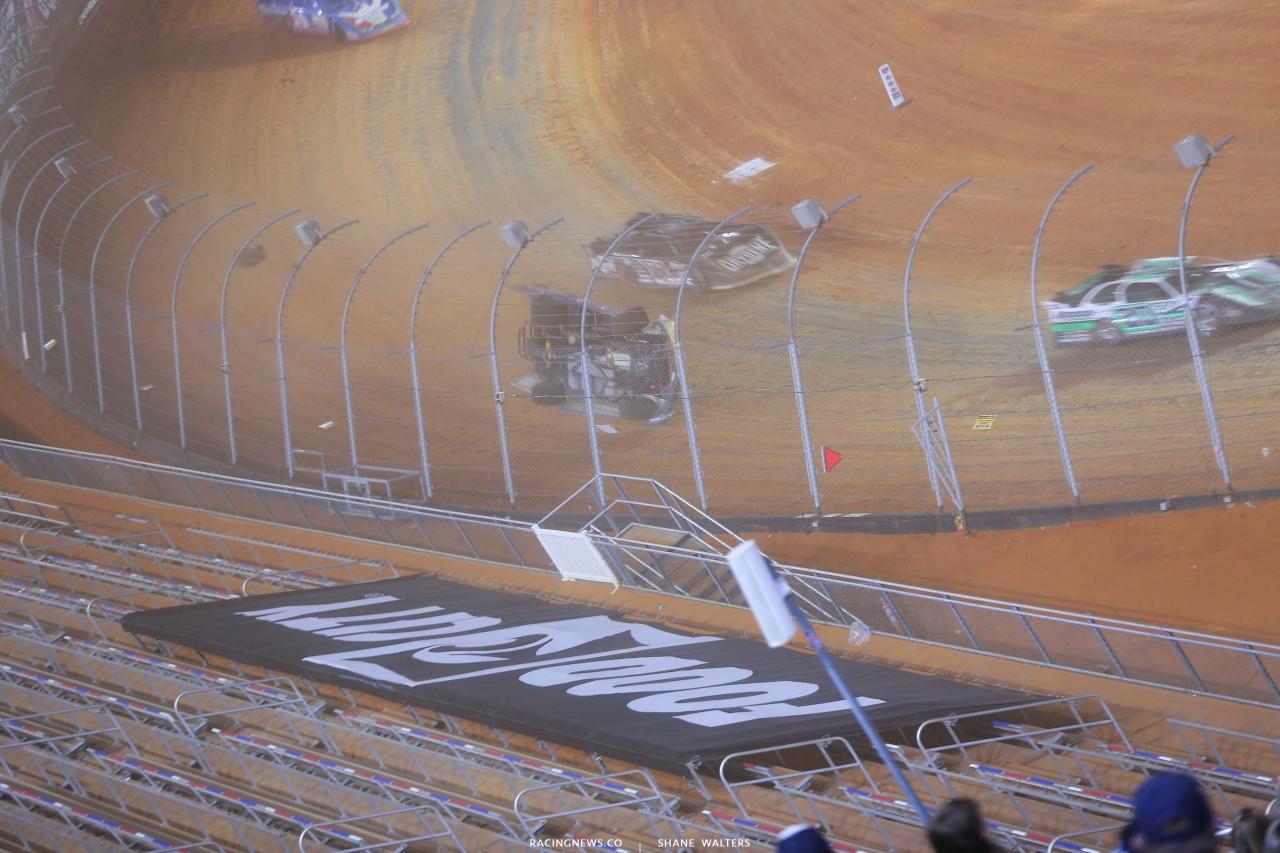5 - Kyle Strickler crash - Bristol Motor Speedway Dirt Track 3749