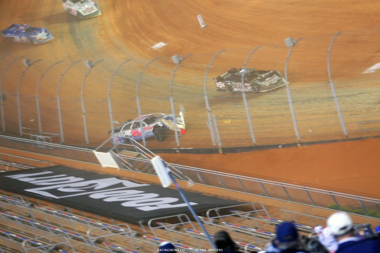7 - Kyle Strickler crash - Bristol Motor Speedway Dirt Track 3751
