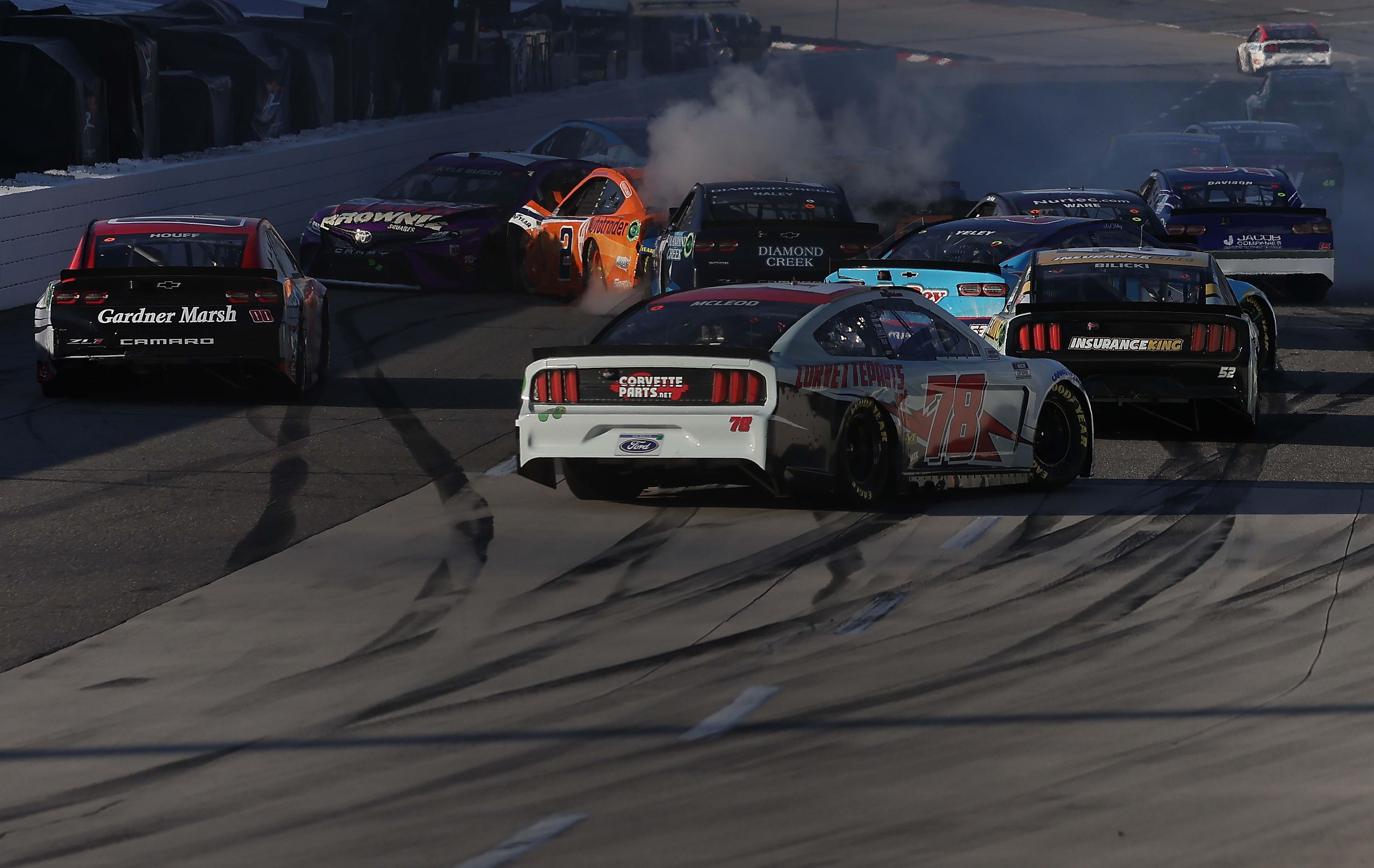 Big crash at Martinsville Speedway