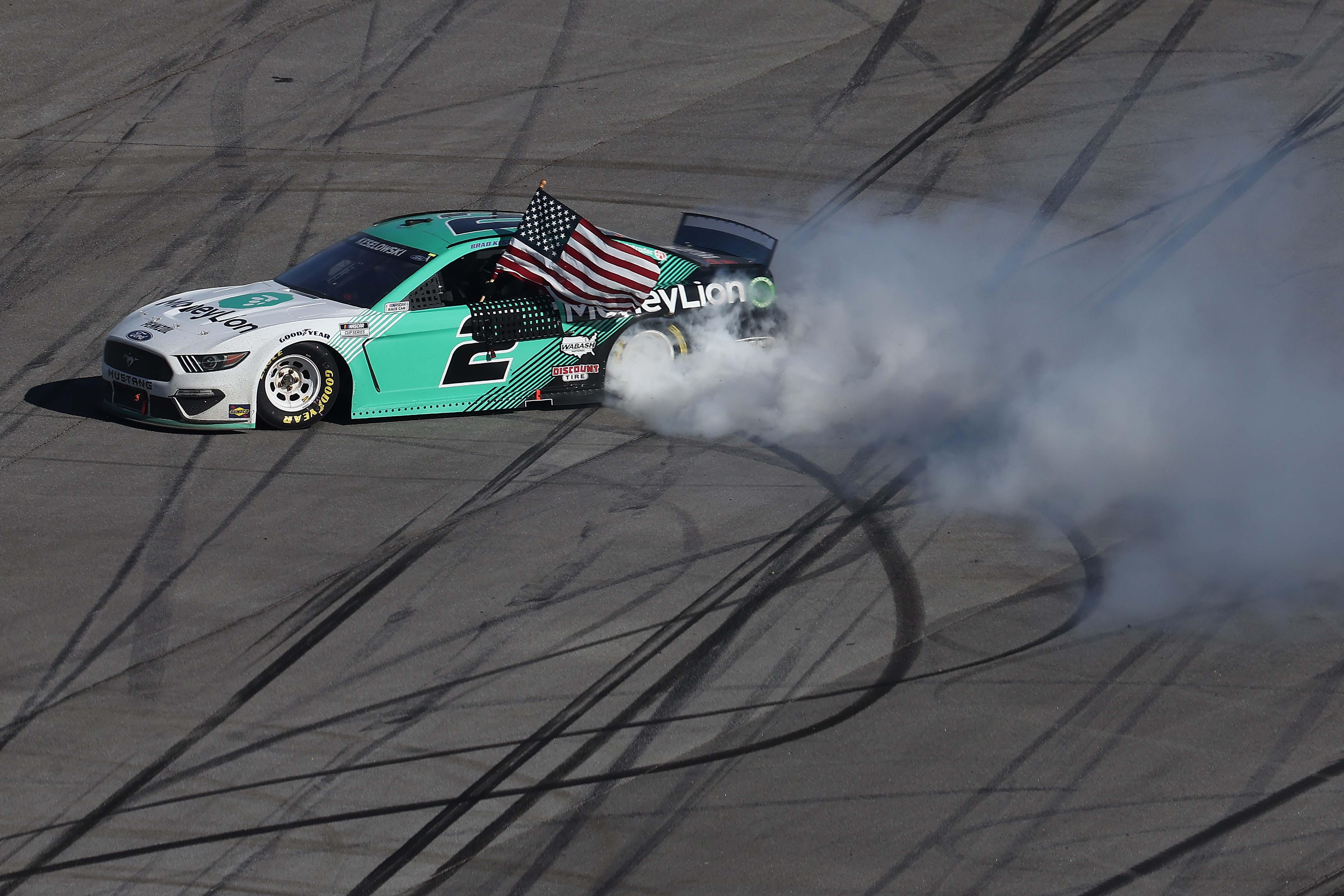 Brad Keselowski wins at Talladega Superspeedway - NASCAR Cup Series - Burnout