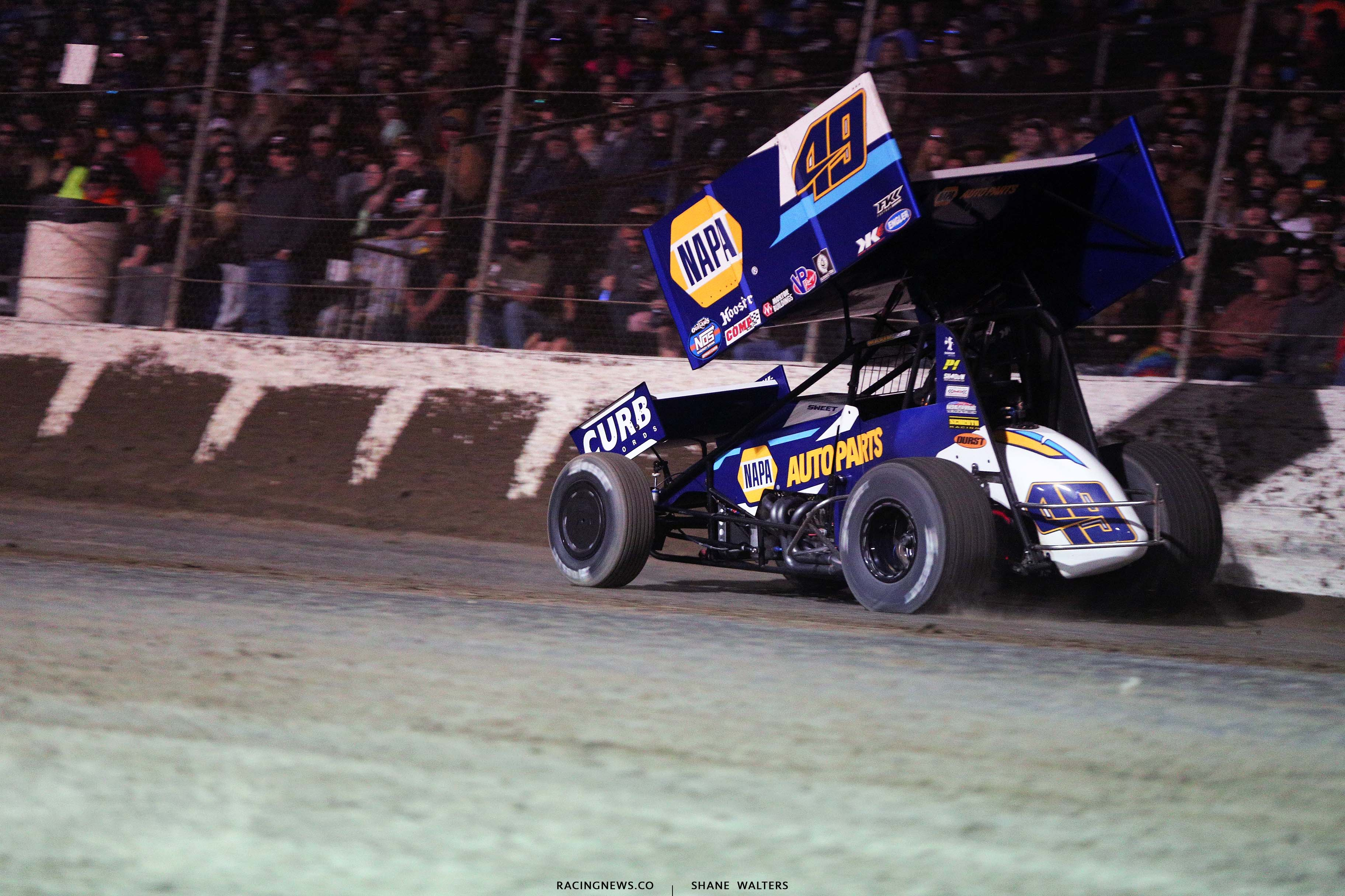 Brad Sweet - World of Outlaws Sprint Car Series - I55 Raceway 3432