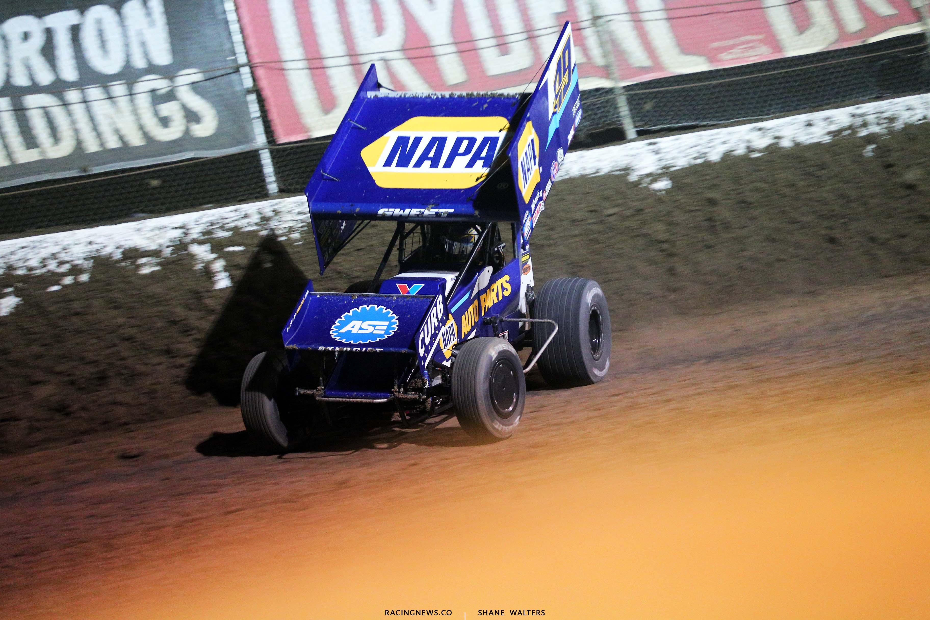 Brad Sweet at I-55 Raceway - World of Outlaws Sprint Car Series 3242