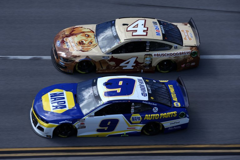 Chase Elliott, Kevin Harvick - Talladega Superspeedway - NASCAR Cup Series