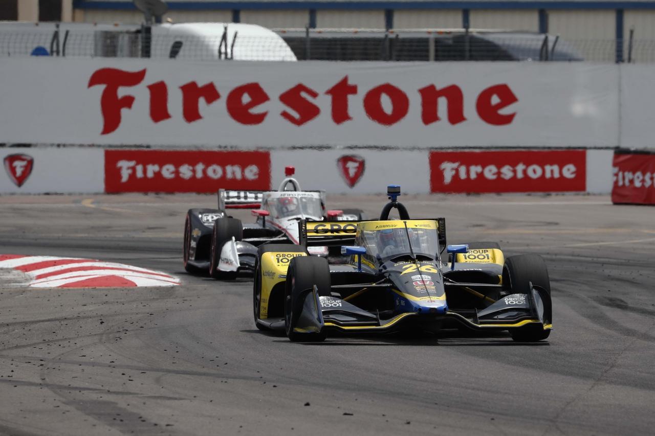 Colton Herta and Josef Newgarden - Streets of St Petersburg - Indycar Series