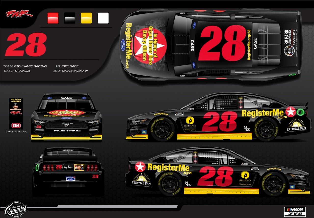 Davey Allison tribute car - Talladega Superspeedway - NASCAR