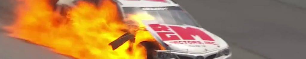 Talladega crash sends Derrick Lancaster to hospital (Video)