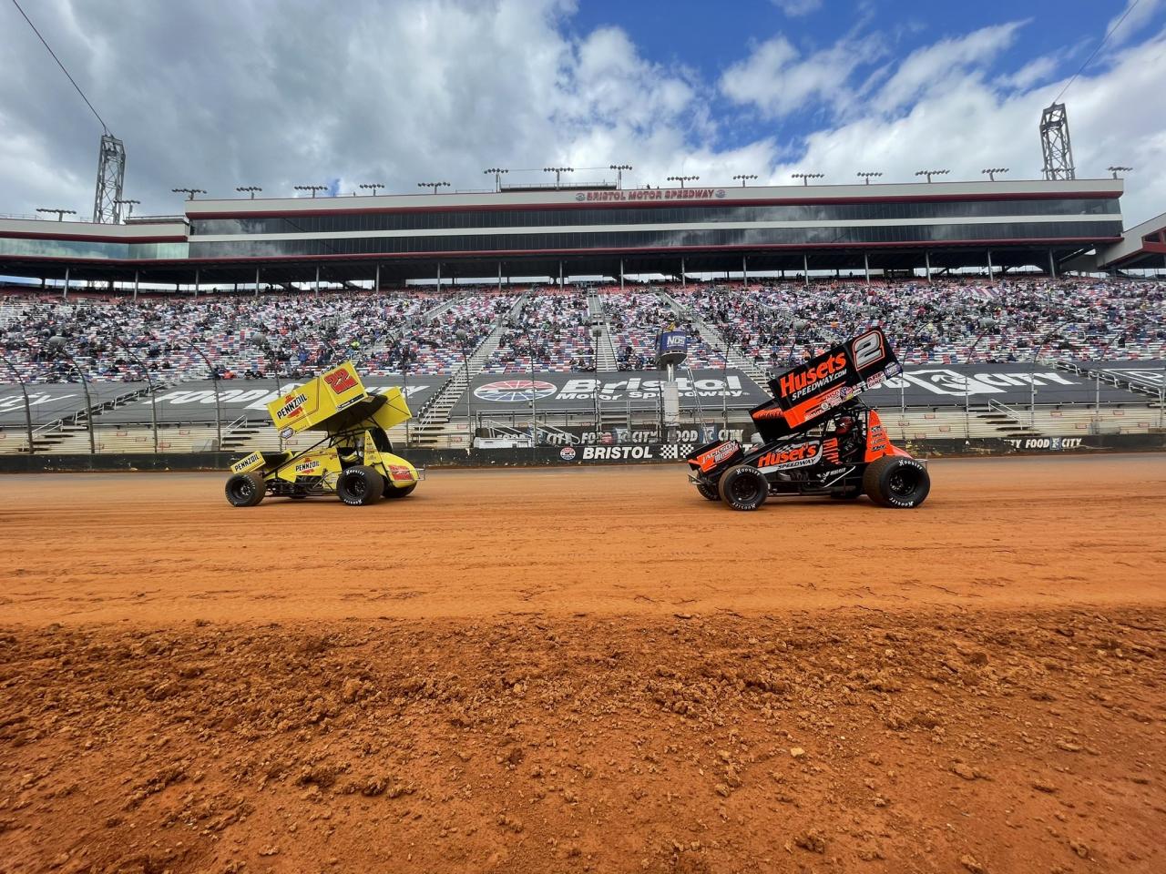 Jac Haudenschild and David Gravel - Bristol Motor Speedway Dirt Track