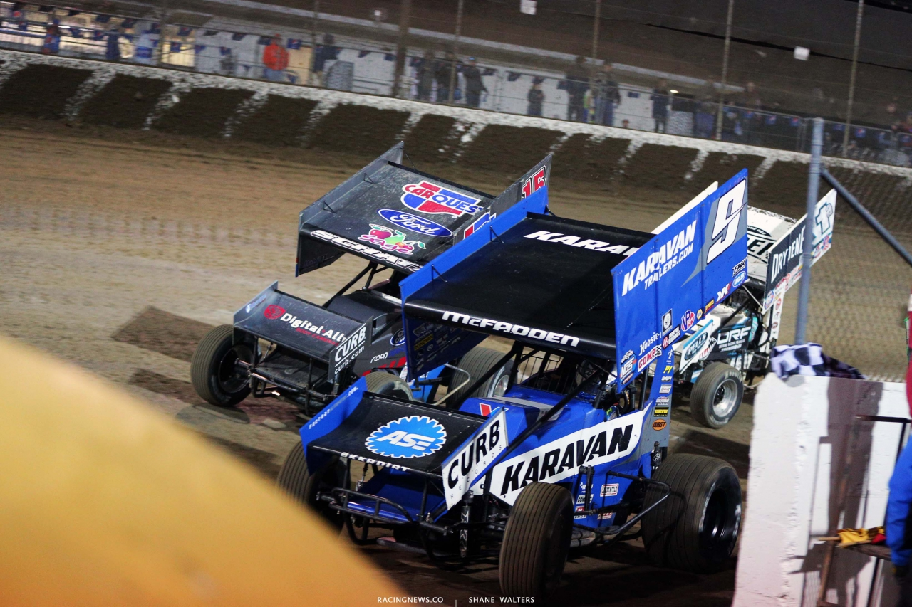 James McFadden and Donny Schatz - Federated Auto Parts Raceway at I-55 - World of Outlaws 3142