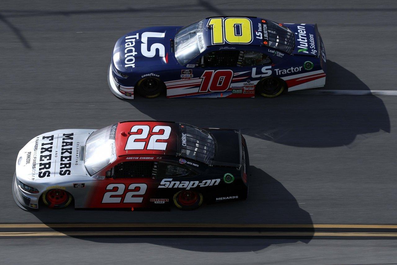 Jeb Burton and Austin Cindric - Talladega Superspeedway - NASCAR Xfinity Series
