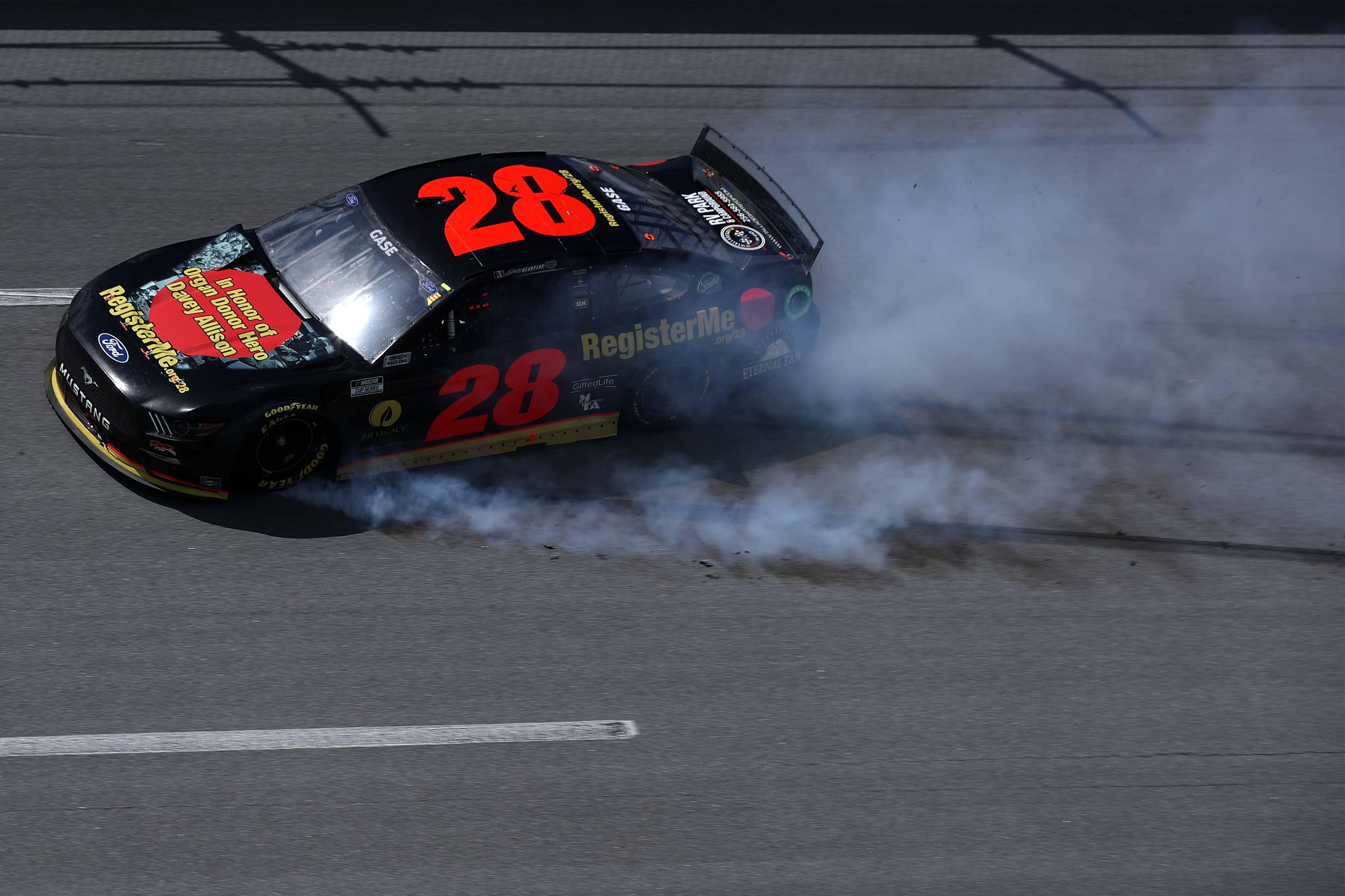 Joey Gase - Davey Allison tribute car - Talladega Superspeedway - NASCAR Cup Series