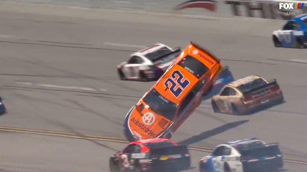 Joey Logano crash - Talladega Superspeedway