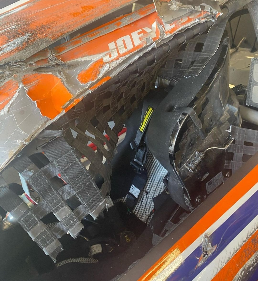 Joey Logano crash