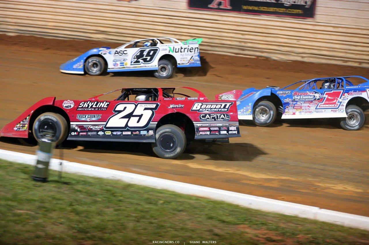 Jonathan Davenport, Shane Clanton, Brandon Sheppard - Port Royal Speedway - Lucas Oil Late Model Dirt Series 4993