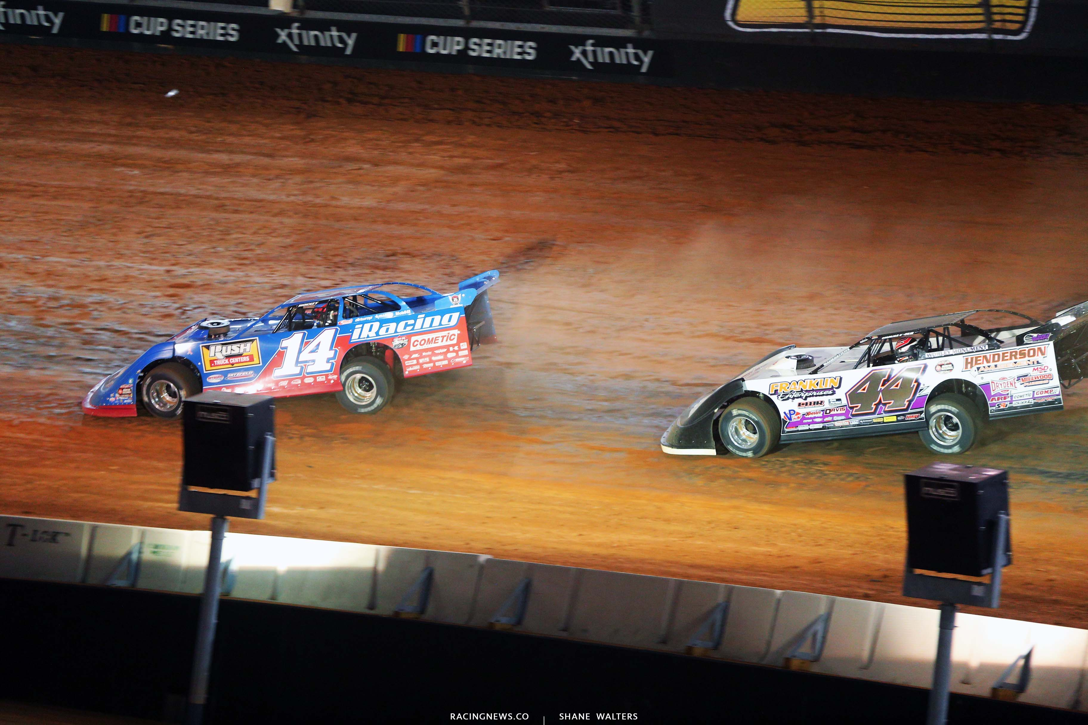Josh Richards and Chris Madden - Bristol Motor Speedway Dirt Track - World of Outlaws Late Model Series 3848