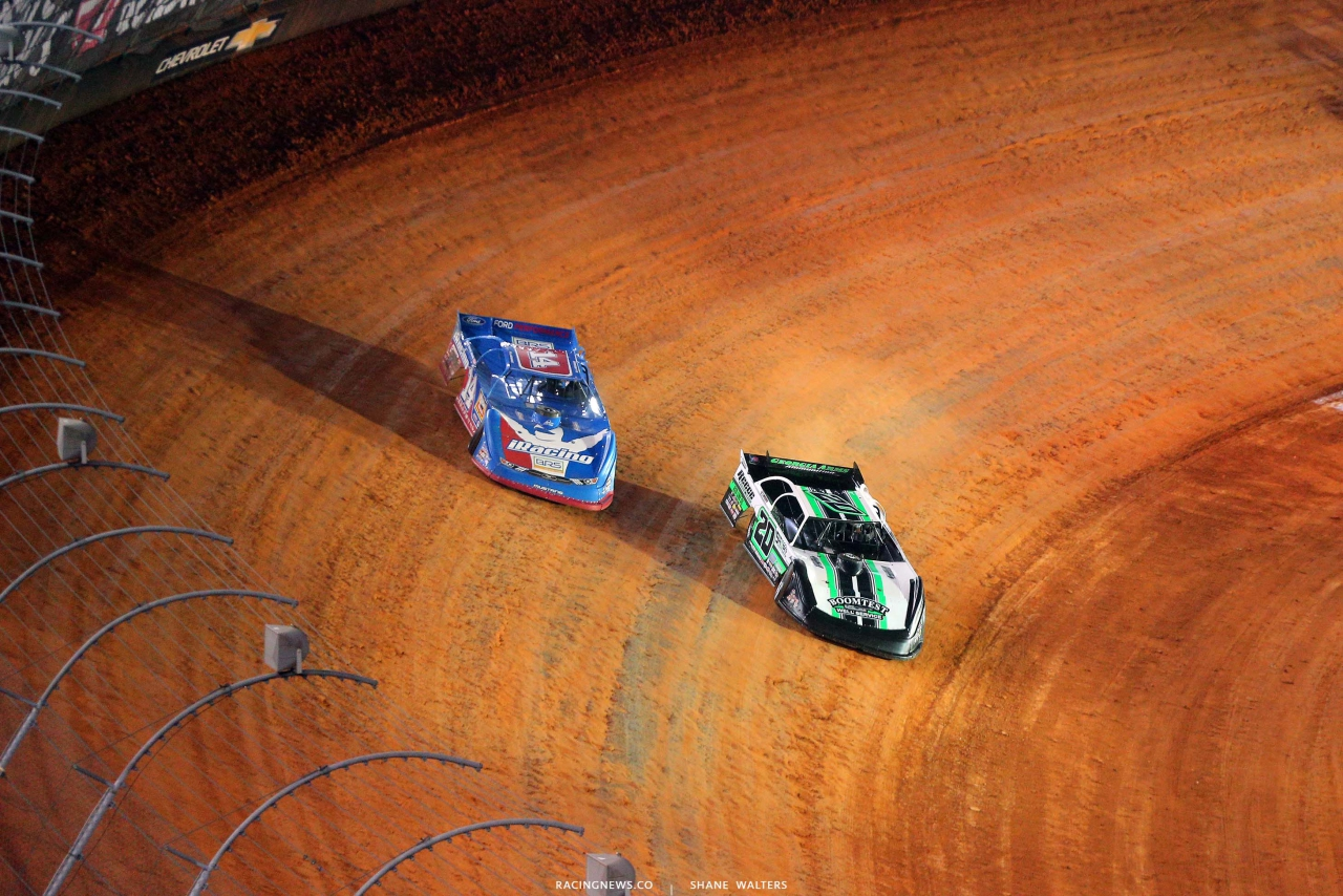 Josh Richards and Jimmy Owens - Bristol Motor Speedway dirt track - World of Outlaws Late Model Series 3713