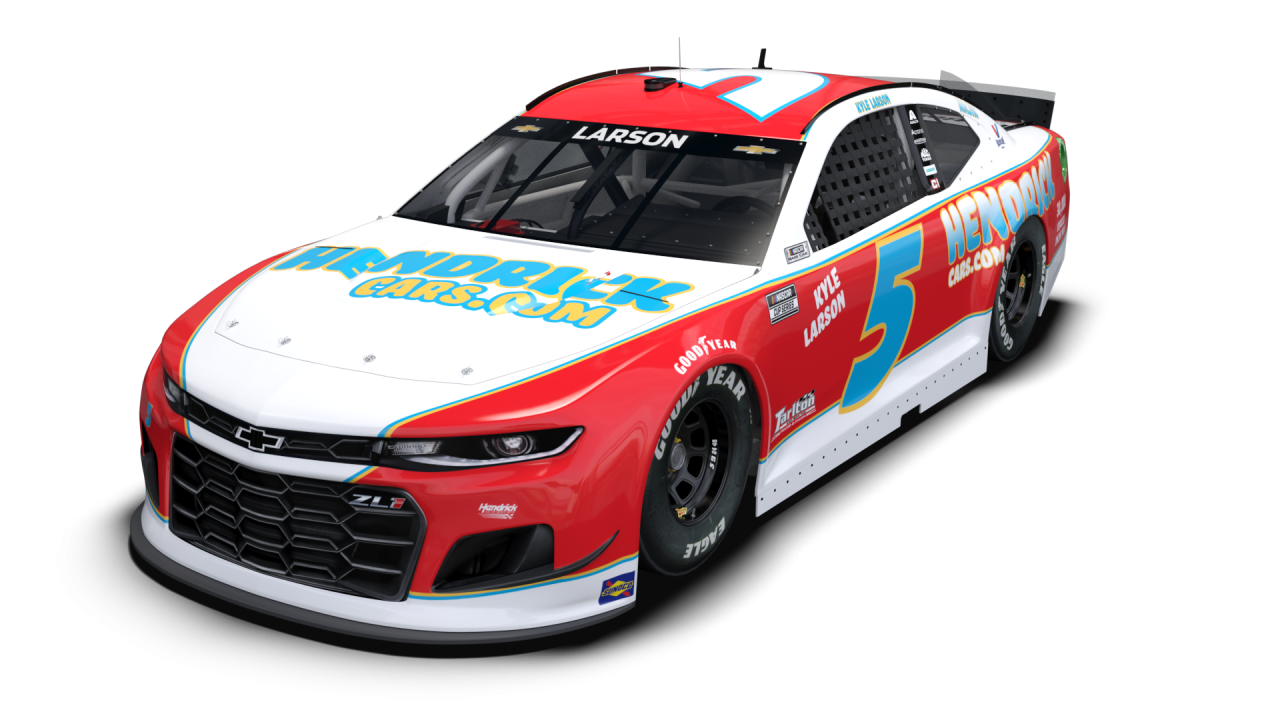 Kyle Larson - 2021 Darlington Raceway throwback photo